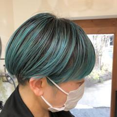 ハイトーンカラー インナーカラー ハイライト ボブ ヘアスタイルや髪型の写真・画像