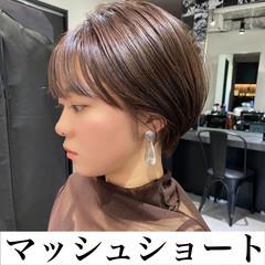 ショートマッシュ ミニボブ 韓国風ヘアー ボブ ヘアスタイルや髪型の写真・画像