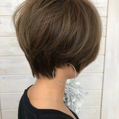 ショート 女子力 小顔 フェミニン ヘアスタイルや髪型の写真・画像