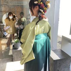 袴 卒業式 和装ヘア アップスタイル ヘアスタイルや髪型の写真・画像