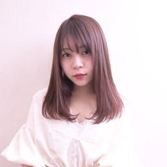 ナチュラル 美髪 セミロング 可愛い ヘアスタイルや髪型の写真・画像