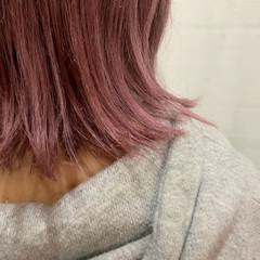 ハイトーンボブ ハイトーンカラー モード ミディアム ヘアスタイルや髪型の写真・画像