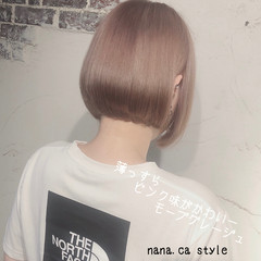 ストリート ボブ 切りっぱなしボブ ヘアスタイルや髪型の写真・画像