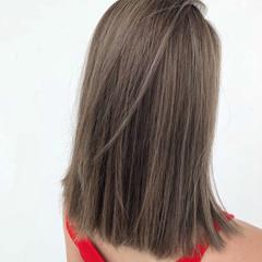 ストリート ミディアム ロブ ボブ ヘアスタイルや髪型の写真・画像