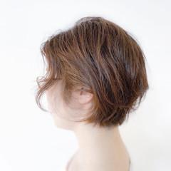 ショートボブ ナチュラル 大人可愛い ショート ヘアスタイルや髪型の写真・画像