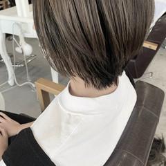 透明感カラー 大人ハイライト 大人かわいい ショート ヘアスタイルや髪型の写真・画像
