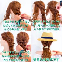 エレガント デート ロング 簡単ヘアアレンジ ヘアスタイルや髪型の写真・画像