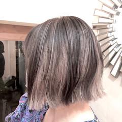 ナチュラル ハイトーンカラー グラデーションカラー ボブ ヘアスタイルや髪型の写真・画像