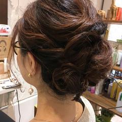 簡単ヘアアレンジ ボブ フェミニン 結婚式 ヘアスタイルや髪型の写真・画像