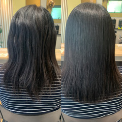 ナチュラル ミディアム 縮毛矯正 髪質改善 ヘアスタイルや髪型の写真・画像