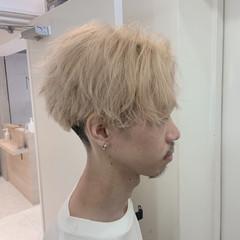 ストリート ハイトーンカラー メンズマッシュ ミディアム ヘアスタイルや髪型の写真・画像