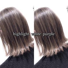 ヘアカラー ボブ ラベージュ グレージュ ヘアスタイルや髪型の写真・画像