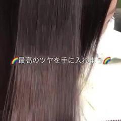 セミロング 髪質改善トリートメント 縮毛矯正 美髪 ヘアスタイルや髪型の写真・画像
