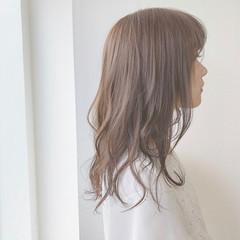 ナチュラル ふんわり 可愛い セミロング ヘアスタイルや髪型の写真・画像