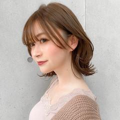 レイヤースタイル セミロング 大人可愛い モテ髪 ヘアスタイルや髪型の写真・画像