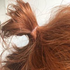 ボブ アプリコットオレンジ ナチュラル ミニボブ ヘアスタイルや髪型の写真・画像