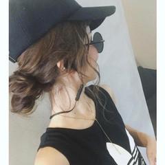 ロング 簡単ヘアアレンジ アンニュイほつれヘア スポーツ ヘアスタイルや髪型の写真・画像