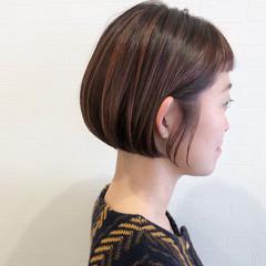 ピンクベージュ ピンク ハイライト ナチュラル ヘアスタイルや髪型の写真・画像