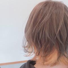 ショート モード インナーカラー インナーカラーオレンジ ヘアスタイルや髪型の写真・画像