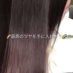 ツヤ髪 美髪 セミロング 縮毛矯正 ヘアスタイルや髪型の写真・画像