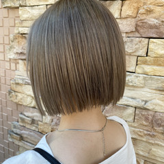 ミニボブ ボブ ショートヘア 切りっぱなしボブ ヘアスタイルや髪型の写真・画像