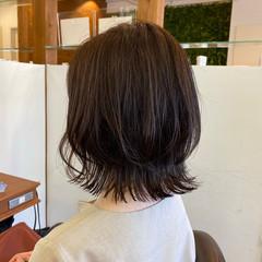 レイヤーボブ ボブヘアー ナチュラル 外ハネ ヘアスタイルや髪型の写真・画像