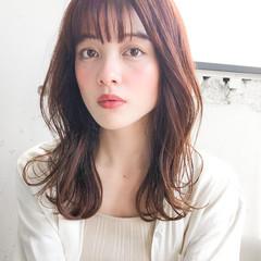透明感カラー ナチュラル 韓国ヘア レイヤーカット ヘアスタイルや髪型の写真・画像