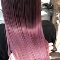 ハイライト ピンクバイオレット ピンクパープル ピンクアッシュ ヘアスタイルや髪型の写真・画像