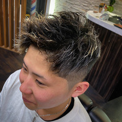 メンズショート メンズヘア スキンフェード ガーリー ヘアスタイルや髪型の写真・画像