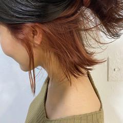 インナーカラー ピンク ブリーチ 透明感 ヘアスタイルや髪型の写真・画像