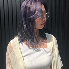 ストリート ミディアム ブリーチ ハイトーン ヘアスタイルや髪型の写真・画像