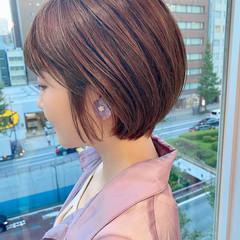ショート ショートボブ デート 大人かわいい ヘアスタイルや髪型の写真・画像
