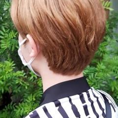 ショートボブ インナーカラー ベリーショート ショート ヘアスタイルや髪型の写真・画像