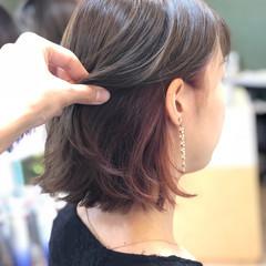 フェミニン ボブ ヘアアレンジ 透明感 ヘアスタイルや髪型の写真・画像