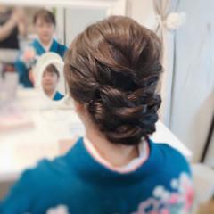 結婚式 エレガント ロング ヘアアレンジ ヘアスタイルや髪型の写真・画像