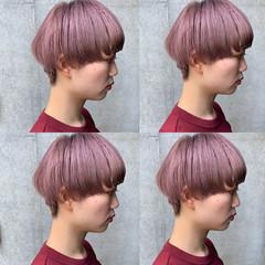 モード ミニボブ ベリーショート ショート ヘアスタイルや髪型の写真・画像