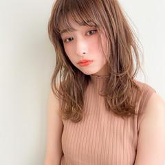 デジタルパーマ モテ髪 ミディアム デートヘア ヘアスタイルや髪型の写真・画像