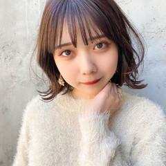 ナチュラル ミニボブ 韓国ヘア 大人ミディアム ヘアスタイルや髪型の写真・画像