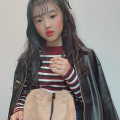 ゆるウェーブ シースルーバング ロング 韓国ヘア ヘアスタイルや髪型の写真・画像