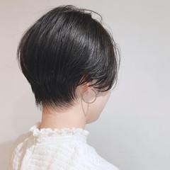 簡単スタイリング ショート ショートボブ アンニュイほつれヘア ヘアスタイルや髪型の写真・画像