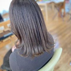髪質改善 透明感カラー グレージュ ミディアム ヘアスタイルや髪型の写真・画像