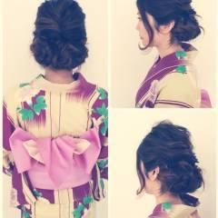 くるりんぱ お祭り ヘアアレンジ 夏 ヘアスタイルや髪型の写真・画像
