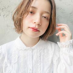 ミディアム ミニボブ ウルフカット パーマ ヘアスタイルや髪型の写真・画像