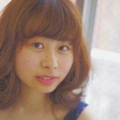 ゆるふわ ミディアム 大人かわいい ストリート ヘアスタイルや髪型の写真・画像
