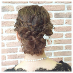 ショート 簡単ヘアアレンジ 結婚式 ボブ ヘアスタイルや髪型の写真・画像