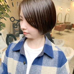 暗髪 ゆるふわ ナチュラル 縮毛矯正 ヘアスタイルや髪型の写真・画像