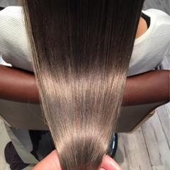 アッシュ 外国人風カラー ロング グレージュ ヘアスタイルや髪型の写真・画像