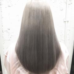 外国人風 ロング ストリート ハイトーンカラー ヘアスタイルや髪型の写真・画像