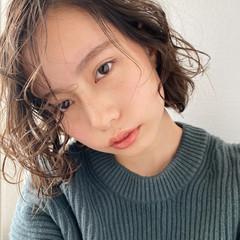 ゆるふわパーマ パーマ パーマ ヘアスタイルや髪型の写真・画像