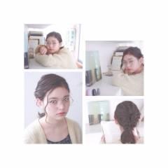 ヘアアレンジ モテ髪 編み込み 愛され ヘアスタイルや髪型の写真・画像